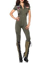 nouvelles femmes de la police armée de polyester verte Costumes d'Halloween