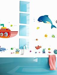 pegatinas de pared de pared calcomanías, dibujos animados submarina pvc submarino pegatinas de pared