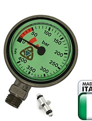 "EZDIVE Scuba Diving SPG,Tech Diving Pressure Gauge,2"" (5.1 cm) Brass ,Made In Italy,400 Bar"