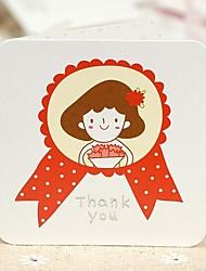 The Little Girl Mini Thank Greeting Card (7.5*7.5cm)