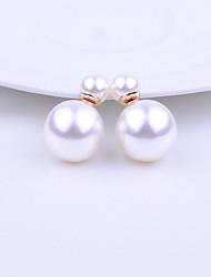 shishang Frauen koreanische Art und Weise Legierung Perlenbolzen