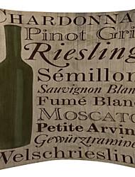 Old Paper and Bottle Velvet Decorative Pillow Cover