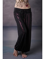 Belly Dance Bottoms Unisex Performance / Training Elastic Woven Satin As Picture Belly Dance / Yoga / Performance Lace-up Dropped