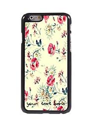 caso di telefono personalizzato - fiori bella cassa del metallo di disegno per iPhone 6