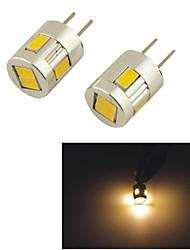carking ™ g4-5630-6smd portato luci interne lamp - bianco caldo