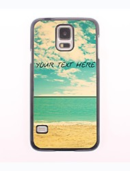 Personalized Phone Case - The Beach And The Blue Sky Design Metal Case for Samsung Galaxy S5