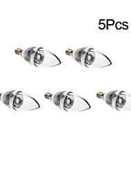 3W E14 Ampoules à Filament LED 1 150 lm RGB AC 85-265 V 5 pièces