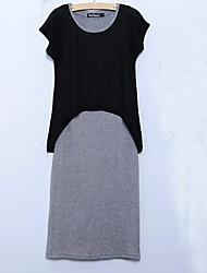 moda femenina la falsificación del vestido de dos piezas