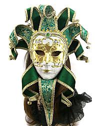 fronte pieno stile veneziano elegante maschera di carnevale colorato