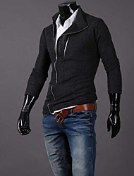 COOLMAN Men Oblique Zipper Sweater
