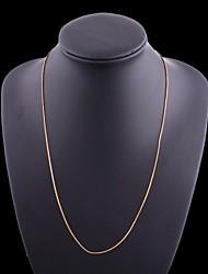 figaro 60 cm de chaîne hommes plaqué or colliers or de la chaîne (largeur de 1 mm)
