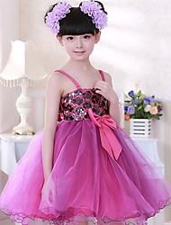 la mode de la robe sans manches arc mignon sangle de l'élégance d'enfant morveux