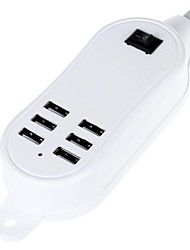 5000mAh 6-Ports 30W USB Desktop Charge Power Strips (100~240V/EU Plug)(Length:145cm)