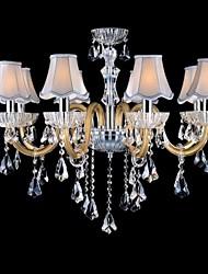 modello dorato lampadari di cristallo lampadari di moda E14 * 8