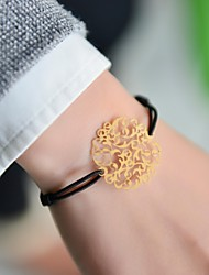 Fashion Women Flower Stamping Elastic Bracelet