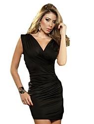 Клубная одежда плиссированной Bodycon мини-платье женская