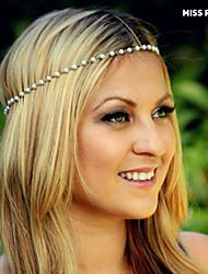 Miss ROSE®New Simple Diamond Head Hair Accessories Chain