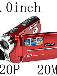 hd 720p 20MP 16x de zoom da câmera de vídeo digital filmadora dv vermelho