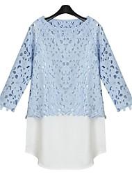 Women's Blue Shirt ¾ Sleeve