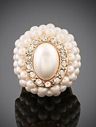 la mode féminine surestimer la personnalité ovale perle bague de diamant (plus de couleurs)