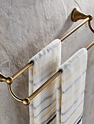 Antique Brass 23 Inch Double Towel Bar, Bathroom Accessory