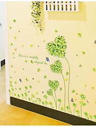 настенные наклейки наклейки на стены, стиль любовь Parthenocissus трава пвх наклейки