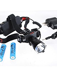 Lights Headlamps LED 1200 Lumens Mode Cree XM-L T6 18650 Waterproof / Rechargeable / Impact Resistant / Strike Bezel / Emergency