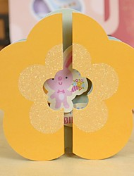 Floret Modeling Three-Dimensional Display Mini Birthday Card(10.5*10.5CM)