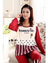 cabeza conjunto peinado de algodón de manga larga traje de ropa deportiva de las mujeres