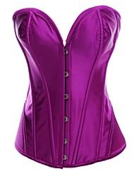 satin sexy des femmes overbust corset shapewear