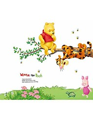 Wall Stickers Wall Decals, Style Winne The Pooh PVC Wall Stickers