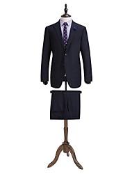 Marine damier tailorde costume ajustement 100% laine