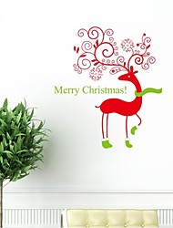 Wall Stickers Wall Decals, Christmas Bear With Socks PVC Wall Stickers.