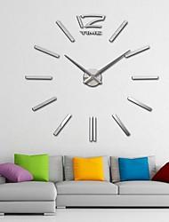 "40 ""h espejo acrílico relojes DIY 3D gigantes pared pegatina superficie de salón dormitorio"