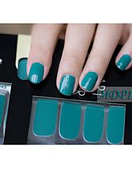 14pcs pure kleur nail art stickers mdp1045