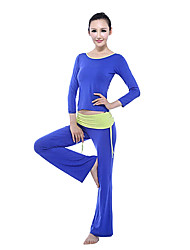 Women's Yoga Suits Long Sleeve Blue Yoga S / M / L / XL / XXL