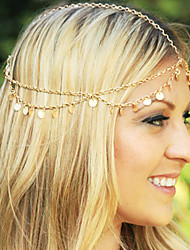 Shixin® European Tassels With Flash Card Golden Alloy Headbands For Women(1 Pc)
