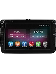 8 polegadas 2 din carro dvd player para o núcleo volkswagen VW Golf polo quad cpu puro android 4.4.2 gps