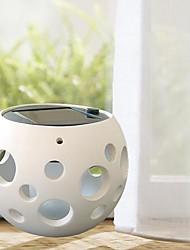 la glace blanche ronde pot de soleil en céramique lampes solaires pot avec bulle