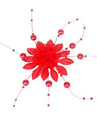 moda flores de seda imitação de pérolas hairpin