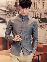 Chemises ( Multicolore , Coton/Mélange de coton ) - HOMMES - pour Tous les jours/Travail/Grande occasion - Tartan & Carreau/Pur - Manches longues