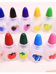 12 colores lápices de crayón extraíble (color al azar)