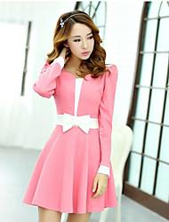 vestido bonito de manga comprida equipado de Leto mulheres