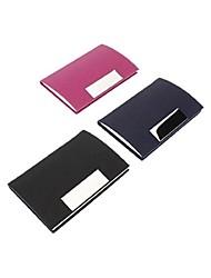 support coloré pu de carte de visite en cuir (couleur aléatoire)