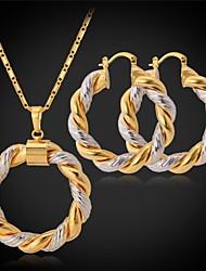 platina ouro 18k fantasia novas mulheres banhado tom 2 brincos de pingente círculo de jóias conjunto esposas bola de basquete de alta qualidade