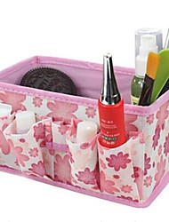 Non-woven Fabric Folding Make-Up Cosmetic Storage Bag Box Wedding Return Gift(Random Color)