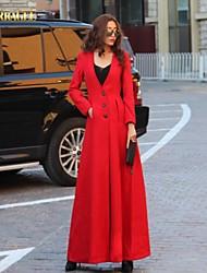 verragee alta gama abrigo de lana swing grande gran abrigo de lana delgada párrafo largo de Europa y América las mujeres de talla grande