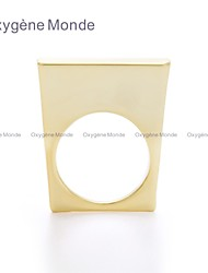 OM® Gold-tone Slim Square Plate Ring