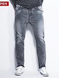 LEEPEN Men's Plus Size Knitted Jeans.