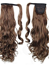 Excellent Quality Synthetic Clip In Ponytail 26 Inch Long Curly Hairpiece